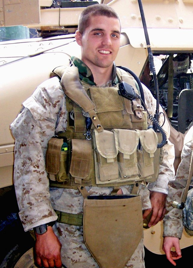 First Lieutenant Travis Manion, 26, of Doylestown, PA, assigned to 1st Reconnaissance Battalion, 1st Marine Division, I Marine Expeditionary Force, based in Camp Pendleton, CA, was killed by sniper fire on April 29, 2007 while fighting against an enemy ambush in Anbar Province, Iraq. He is survived by his father, Colonel Tom Manion, mother Janet Manion, and sister Ryan Borek